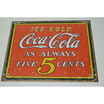 Tsn1471 Letrero Lamina Decorativa Coca Cola Always 5 C Vv4