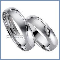 Argollas De Matrimonio Mod. Faith En Oro Blanco 10k Solido