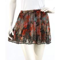 Minifalda Estampado Flores, Pedrería Bordada Haute Hippie
