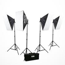 Kit De Iluminacion Softbox Cajas De Luz Fotografia Video Vbf