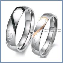 Argollas De Matrimonio Mod. Love En Oro Blanco 14k Solido