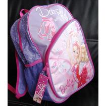 Mochila Escolar Barbie Zapatillas Mágicas Ballet Niña