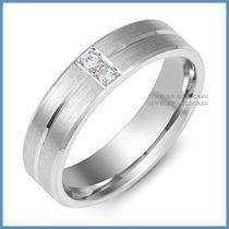 Argollas Mod. Venecia Diamante Natural Oro 14k Matrimoniales