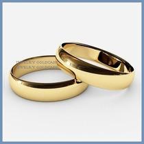 Argollas Matrimoniales Mod. Classic Oro Amarillo 10k Solido
