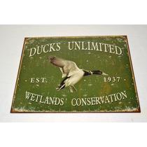Tsn1388 Letrero Lamina Decorativa Ducks Unlimited Vv4