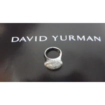 David Yurman Anillo En Plata .925 Y Diamantes 1 Ct.