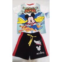 Playera Y Short Mickey Para Bebe 2 Y 3 Años