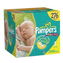 Paquete Pampers Baby Dry Pañales Economy Plus Size 1 276 Con