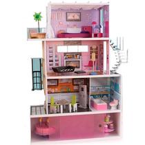 Casa Casita Para Muñecas Kidkraft Mansion Juguete Pm0