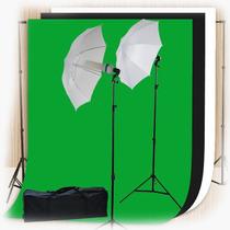 Kit / Estudio Fotografico Portatil Profesional Muselinas Vbf