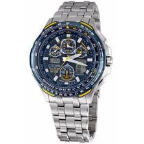 Reloj Citizen Ecodrive Blue Angel Skyhawk Titanio Jy0050-55l
