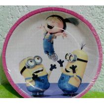 Platos Pasteleros Fiesta Agnes Mi Villano Favorito 2 Vasos