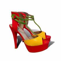 Oferta Padrísimas Zapatillas Vía Libera Naranja-amarillo