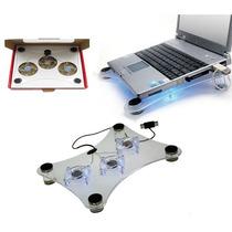 Ventilador Laptop 3 Ventiladores Base Enfriadora De Lujo Usb