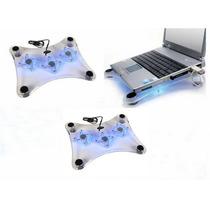 5 Piezas Enfriador Usb Para Laptop 3 Ventiladores Cool Pad