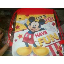Lote De 10 Mochilas Bolsas Mickey