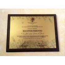Reconocimiento Diploma En Sublimación Color Negro Y Nogal