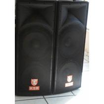 2 Bafles Ksr Tipo Concert Y Amplificador Power K 5000 Nuevo