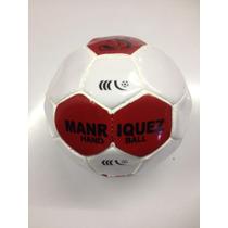 Balon De Handball No 3 Manriquez Km0300 Blanco Rojo