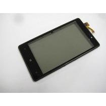 Pantalla Táctil Con Marco Y Flex De Luz Nokia Lumia 820 Rm4