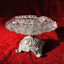 Antiguo Cenicero De Cristal En Base Antimonio Envio Gratis
