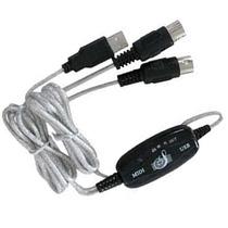 Cable Usb A Midi Conectate A La Pc O Mac Maxima Calidad