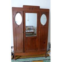 Ropero Antiguo, Guardarropas Vintage De Madera Cedro