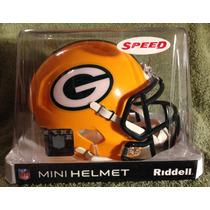Nfl Green Bay Packers Mini Casco Modelo Speed By Riddell