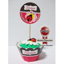 Capacillos Para Cupcake Personalizados C/banderín 25 Piezas