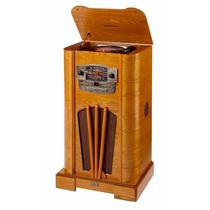 Tornamesa Rockola Vintage Reproductor Retro Cd Radio Am/fm