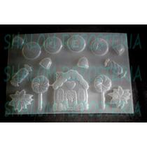 *mini Molde Navidad M4 Casita ,para Fondant Chocolate Jabon*