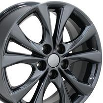 Juego De 4 Rines Para Mazda 3 2011 Negro Cromado