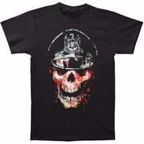Slayer - Skull Hat T Shirt Importada - Talla S