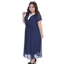 Vestido Largo Elegante Talla Extra Grandes Moda Japonesa