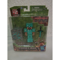 Figura De Minecraft Steve With Diamono Armor !!!