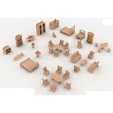 Muebles Miniatura Casa De Muñecas Mdf Kit Gmcm023