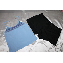 Victoria Secret Mossimo Set Pijama Short Azul Talla Mediana