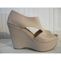 Hermosas Botas Sandalias Tacon Wedge # 26mex Originales New