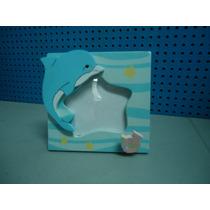 Portaretratos, Recuerdo Baby Shower, Mar Con Delfín Y Peces