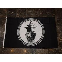 Bandera Barco Fantasma 150x90 Cm Piratas Del Caribe
