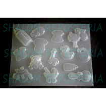 *mini Molde Baby Shower #1 Para Fondant Chocolate Jabon*
