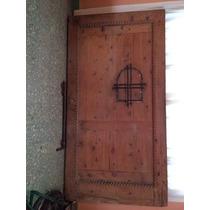 Portón De Cedro Blanco Labrado