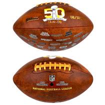 Balón Nfl Wilson Super Bowl 50 Logos Broncos !envío Gratis!