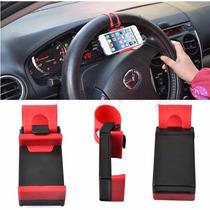 Soporte Iphone Holder Base Autos Universal Volante Cel