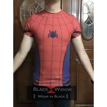 Playera Fullprint Torso Civil War Spiderman Traje Iron Man