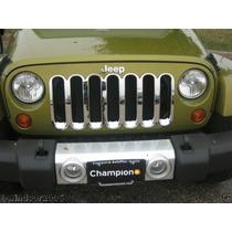 Jeep Wrangler Inserto Cromado De Una Pieza De Lujo Sp0