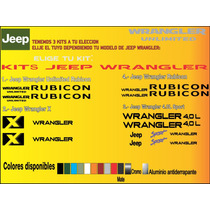 Stickers Jeep Wrangler Rubicon Unlimited Calcomanias Vinyl