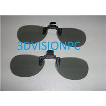 Lentes 3d Con Clip Polarizacion Circular Lg, Polaroid Op4