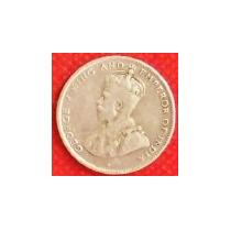 25 Centavos 1919 Plata Honduras Británica Rey Jorge V - Vbf