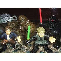 Star Wars! Darth Vader, Solo, Luke, Chewie! Galactic Heroes!